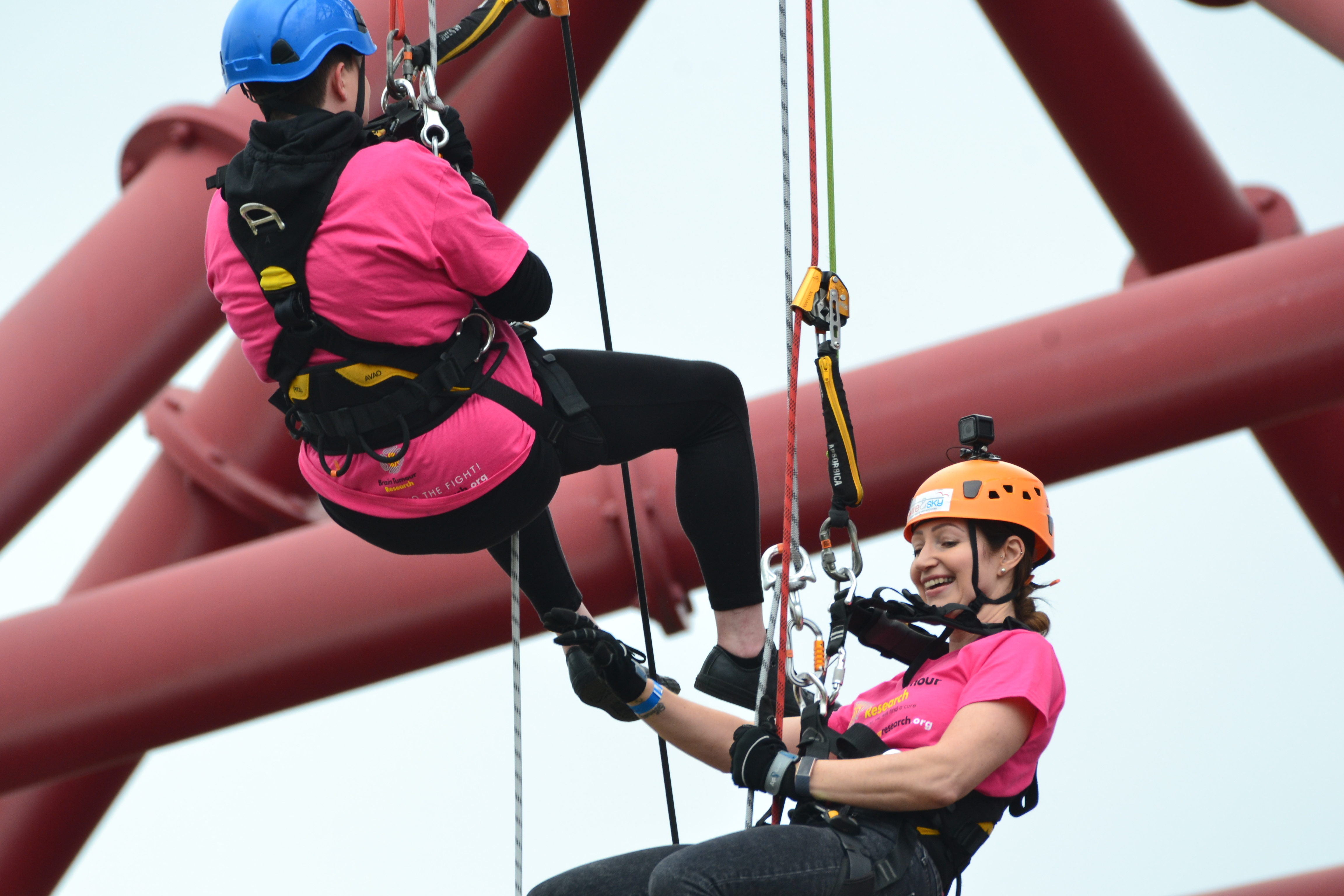 Elaine's Double Abseil Challenge Raises Awareness For Brain Tumour Charity