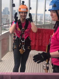 Brain Tumour Research charity abseil